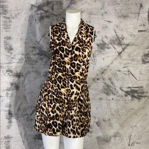 Monteau leopard jumpsuit romper one piece medium.